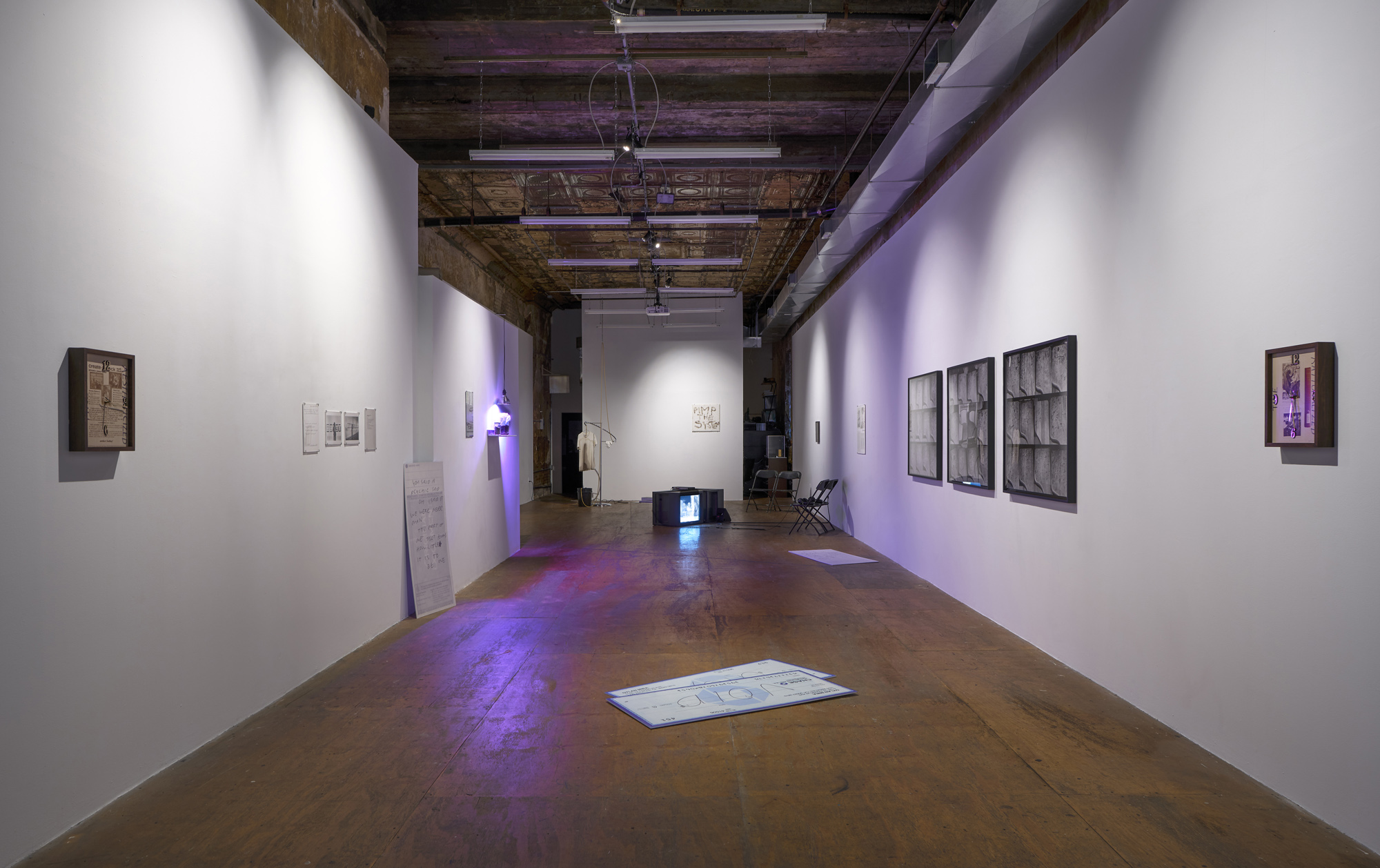 A new job to unwork at, PARTICIPANT INC, installation view.